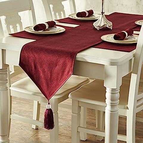 TX-In stile europeo Festose cene informali arazzo Tabella Runner,color sand35*228cm - Stampa Cascade Centrotavola