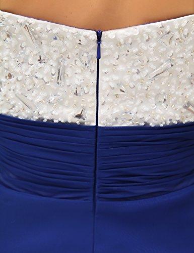 Dresstells, Robe de demoiselle d'honneur/soirée chérie en Mousseline de Soie, Sans Bretelles, avec cristal Bordeaux