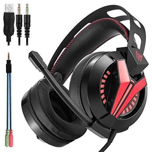 ZIHUI PS4 Gaming Headset, Stereo Sound Noise Reduction Over Ear Kopfhörer Gaming Headset mit Mikrofon für PC Mac Laptop New Xbox One Nintendo DS PSP
