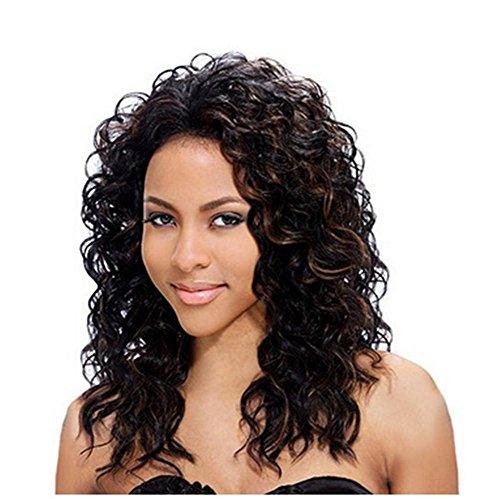 er flauschige mittlere lockiges Haar Pick Color färbbaren Frisuren voll Perücke (Teufel Halloween Frisuren)
