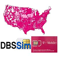 DBS Re-Usable Sim for USA - Unlimited Calls, Texts and 4G LTE Data Free Streaming, Nano, Micro, Standard size (DBS US 5 Days)