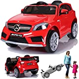 SIMRON - Mercedes-Benz A45 AMG SUV Ride-On 12V Kinderauto Kinderfahrzeug (Rot)
