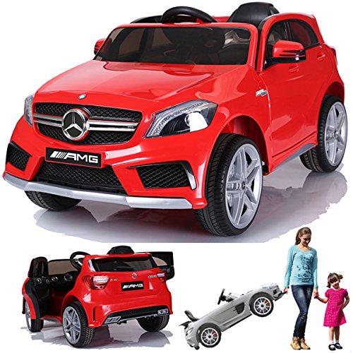 Preisvergleich Produktbild SIMRON - Mercedes-Benz A45 AMG SUV Ride-On 12V Kinderauto Kinderfahrzeug (Rot)