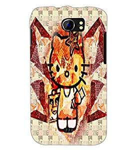 PrintDhaba Kitty D-4970 Back Case Cover for MICROMAX A110 CANVAS 2 (Multi-Coloured)