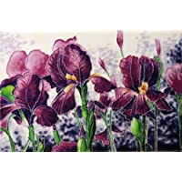 "Tile Picture Iris Garden 8x12"""" by Benaya"