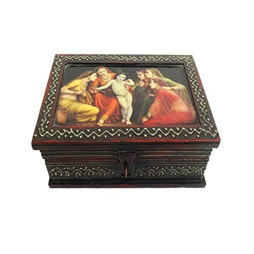 Hand Made 6x4 Surface Painting Wooden Box / Jewellery Box / Storage Box / Return / Marriage / Anniversary / Gifts