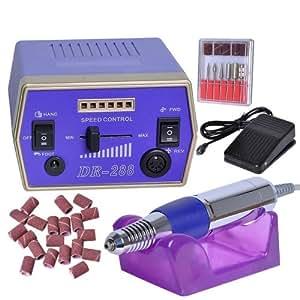 Haute qualité Ponceuse Manicure Ongle Professionnel Lime Ongles Salon équipement Pour les Pédicure et Manucure,Pourpre