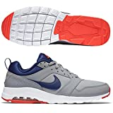 Nike Herren Air Max Motion Laufschuhe, Grau/Blau/Orange (Wolf Grey/Lyl Blue-Brght Crmsn), 40 EU