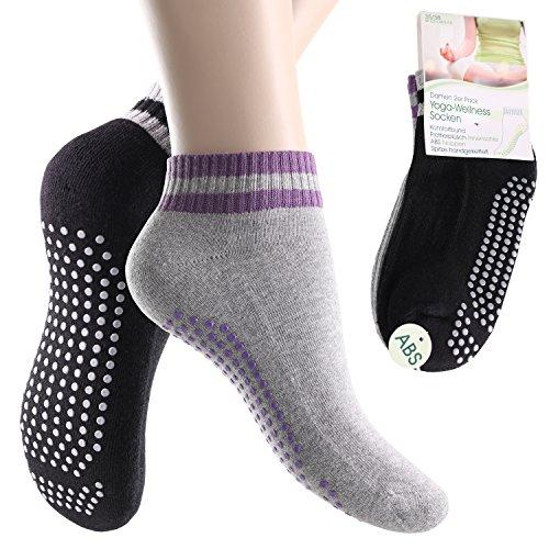 4 Paar Damen Yoga Socken-35-38
