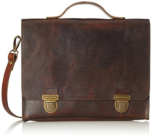 Royal Republiq College - Black Vintage, Besaces mixte adulte, Braun (Cognac), 6.5x30x35 cm (B x H T)