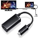 Techgear® HDMI-MHL-Adapter für Sony Xperia Z4Tablet zu TV–Micro-USB-Stecker auf HDMI-Buchse für Xperia Z4Tablet, Verbindung zu TV, Monitor oder Beamer