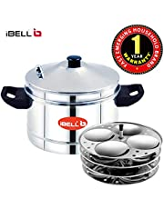 iBELL Idly Cooker Stainless Steel, Idli Maker with 4 Idli Plates (16 Idlyes)