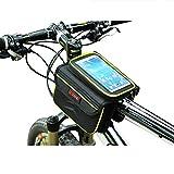 Lmeno Wasserdicht Fahrrad Tasche Fahrrad Radfahren Frontrahmen Cube Bag Pannier Bike Doppel Satteltasche Pouch Steuerrohr Beutel-Kasten-Oberrohr Telefonbeutel-Halter für iPhone 6 5s / 5c / 5 iphone 4/4 und andere Handy bis zu 5,5 Zoll