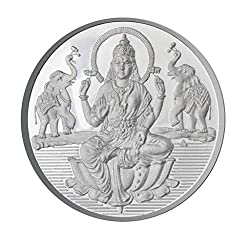 Sri Jagdamba Pearls 5 Grams Lakshmi Silver Coin With 99.9 % Purity