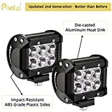 #5: Pivalo 6 Led Fog Light / Work Light Bar Spot Beam Off Road Driving Lamp 2 Pcs 18W Cree - Universal Fitting Hence Good Fit On All Bikes And Cars