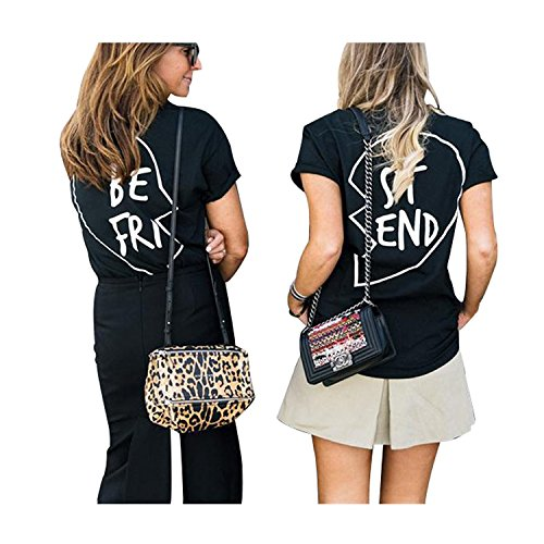 minetom damen shirt kurzarm t shirt damen mit aufdruck best friends t shirt pommes frites damen. Black Bedroom Furniture Sets. Home Design Ideas