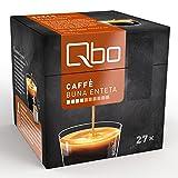 Qbo Kapseln - Caffè Buna Enteta (Kaffee, mild, Anklänge von dunkler Beere und Zitrus, 100% Arabica) (8x27 Kapseln)