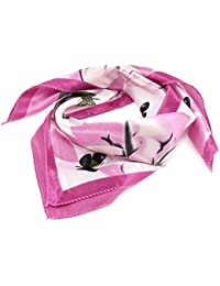 Flowers Butterfly Print Polyester Neck Scarf Neckerchief for Women