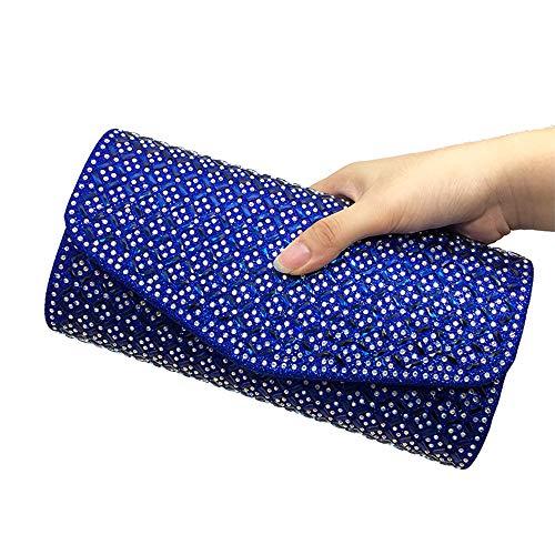 Strass Designer-handtasche (ZYXB Frauen Abendtaschen Handtasche Designer Strass Kristall Kupplung Abendtaschen Für Frauen Hochzeit Tasche Geldbörse,Blue)