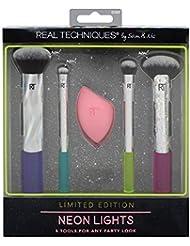 Real Techniques Neon lumières Maquillage Brosse Ensemble cadeau