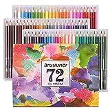 48/72/160Lot de crayons de couleur, crayons de couleur pour croquis, dessin, peinture, Plus Lot de 4livres de coloriage pour adultes comme cadeau Extra 72 Colours