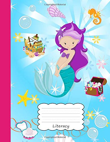 hanna Draw & Write Notebook Half Sketch Book & Dotted Handwriting Dashed Lined Notepad  Paper | Cute Beach Sea Horse Shell ... & Storytelling | Writing Pad Sketchbook ()