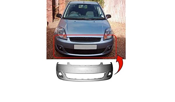 Front Bumper Primed No Fog Holes No Pdc Holes Compatible With Fiesta 2008-2012 Trade Vehicle Parts FD4057