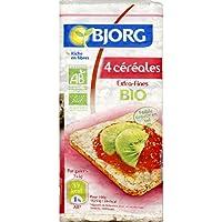 Bjorg Galettes 4 céréales extra fines, Agriculture biologique Le paquet de 130g Produit Bio Agrée Par AB - Prix...