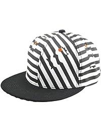 Gestreift Schwarz-Weiß-Hip-Hop-Unisex-verstellbar für Freizeit Outdoor Uni Mütze Kappe