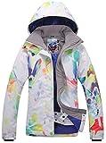 Damen Skijacke warm Jacke gefüttert Winter Jacke Regenjacke Rot 9046 XS