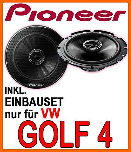 Lautsprecher - Pioneer TS-G1720F - 16cm 2-Wege 300 Watt Koax Einbauset für VW Golf 4 - JUST SOUND best choice for caraudio