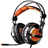 EasySMX XBOX 360 PS3 PS4 PC Stereo Gaming Headset with Bidirectional Mic Noise Cancelling Ultra Lightweight and Comfortable for XBOX 360 PS3 PC Tablet and Mobile Phone (NOT Compatible with XBOX ONE, If for PS4 Please Connect via the 3.5mm Audio cable)