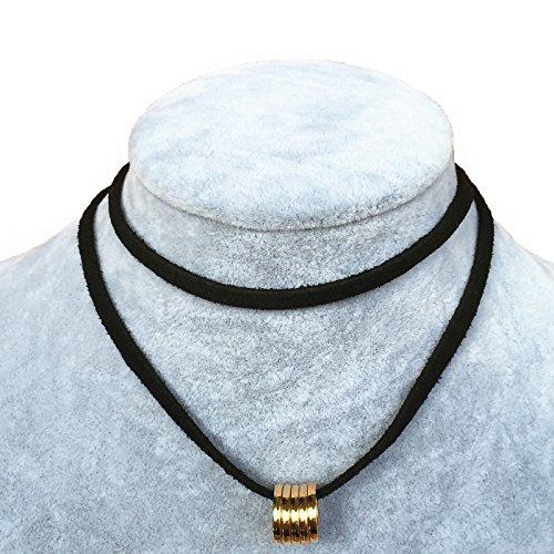 Donne pizzo nero girocollo Gothic collana ciondolo ragazze elasticizzato velluto Tattoo Design regolabile, cod. Series Pendant 204