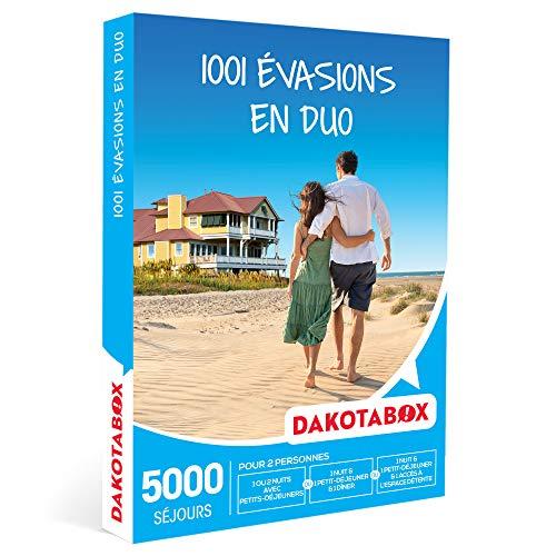 DAKOTABOX - 1001 évasions en duo - Coffret Cadeau Séjour - 1 ou 2 nuits avec ou...