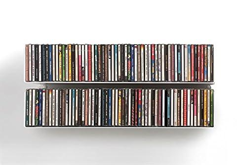 TEEbooks - Étagères range CD/DVD - Lot de 2 -