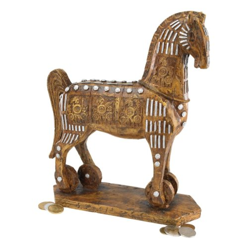 Design Toscano Das legendäre trojanische Pferd, Figur - Griechische Skulptur