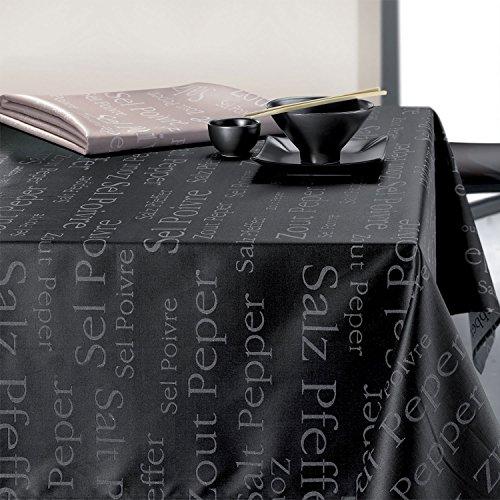 Winkler Nappe Enduite SEL & POIVRE Ficelle Coton 150x150cm