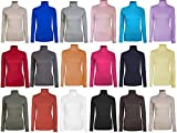 Womens Roll Necks Ladies Polo Neck Tops Exclusively by Brody & Co® Plain Winter Ski Quality Stretch Jersey Cotton