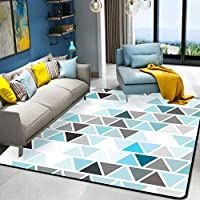 HYRL Alfombra nórdica Abstracta geométrica, 3D Impreso Alfombra de Gran tamaño para casa Moderna Vida Alfombra Espesar Sala de Estar alfombras Arte Decor,#9,160230