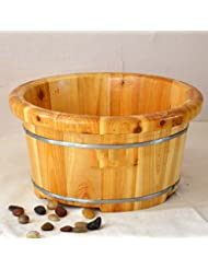 Baignoire domestique Foot Bath Pied Barrel Foot Massage Bassine Bois Foot Bath bain de pieds Bois Bassin Bois Barrel foot bath bucket Bassin de mousse