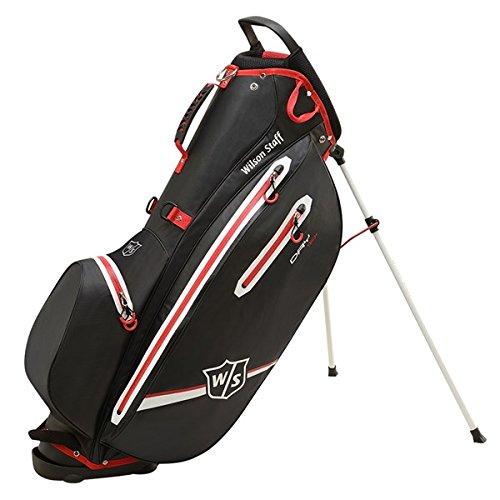 Wilson Golf WGB4350BL Sac Homme, Noir/Rouge