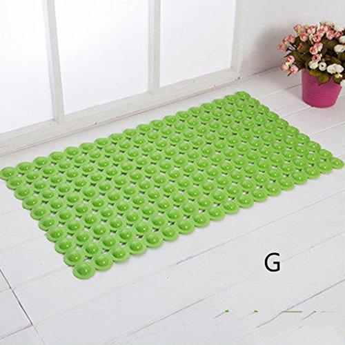 LYJ Tapis de bain Salle de bain Tapis antidérapant Les tapis de porte Toilette étanche Salle de bain Tapis de sol Tapis de solaire avec ventouses Séchage rapide ( Couleur : G )