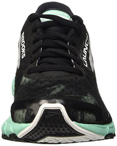 Brooks Launch 3 W, bout fermé femme Multicolore - Black/White/Ice Green