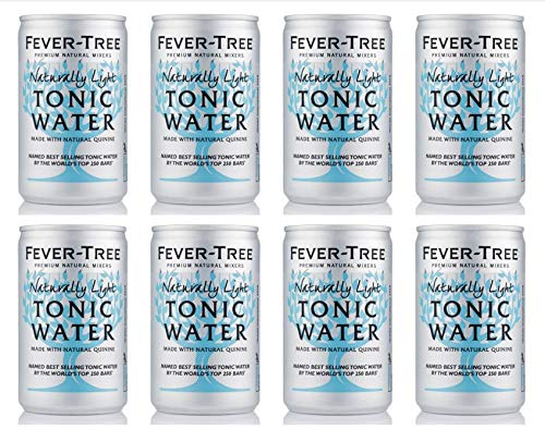 Fever Tree Naturally Light Tonic Water Can 8x150ml - Light Tonic