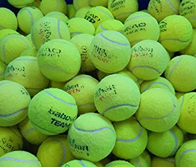 30 Used Tennis Balls - Good Condition - Great For Kids/Dogs Balls From Major Manufacturers like Slazenger, Dunlop, Wilson Head, Etc by Variable Manufacturers