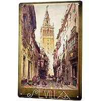 Cartel De Chapa Pasión Por Los Viajes City Sevilla España ...
