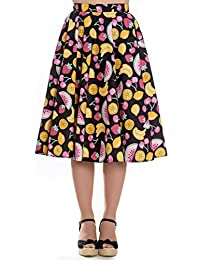 60d5c267022 Hell Bunny Tutti Frutti 50s Style Fruit Rockabilly Circular Skirt