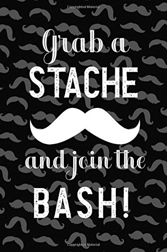 in The Bash!: Blank Lined Notebook ( Mustache )  (Black) ()