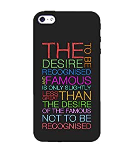 Fuson Designer Back Case Cover for Apple iPhone SE (The Desire To Be Theme)