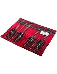 Edinburgh 100% Lambswool Scottish Tartan Multicolour Scarf Stewart Royal (One Size)